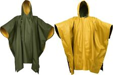 Reversible Waterproof Rain Poncho High Visibility PVC Thick Outdoor Hood & Snaps