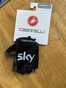 Team Sky Castelli Cycling Mitts Track Race Glove Brand New Summer