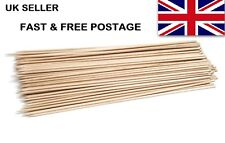 """100x 25cm Pack Wooden Bamboo Skewers BBQ's, Fruit, Chocolate Fountains 10"""""""