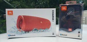 JBL Charge 4 Portable  Wireless Bluetooth Speaker Red and Clip 3 Black