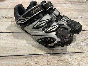 Womens Black Gray GIRO Riela Biking Cycling Shoes Size 9 EU 41