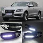 White LED DRL Driving Daytime Running Day Light For Audi Q5 2009~2012
