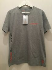 McLaren Mercedes Vodafone Lewis Hamilton Grey T Shirt Size Medium Pit To Pit 21""