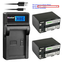 Kastar Battery LCD USB Charger for Canon BP-970G BP-945 & XH-A1S HD XH-A1sE HDV