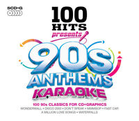Various Artists : 100 Hits: 90s Anthems Karaoke CD Box Set 5 discs (2014)