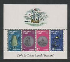 Turks & Caicos - 1973, Treasure sheet - MNH - SG MS378
