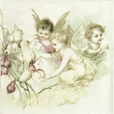 Papel 4x Servilletas Para Decoupage Sagen Vintage Ángeles de carta de amor