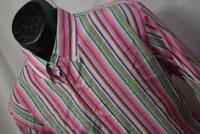 24955 Mens Polo Ralph Lauren Custom Long Sleeve Striped Dress Shirt Size XL