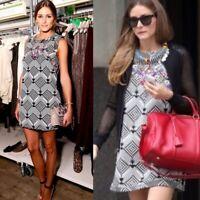 Free People New Romanics Beaded Shift Dress Olivia Palermo Womens Size Medium