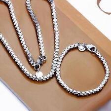 Silberkette Armband Set in Erbs Design Silber pl. 925 45cm Halskette s29a