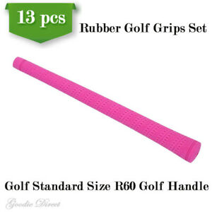 Set of 13 pcs Golfer Club Handle Rubber Cover Grip Wrap Sleeve Standard Set Pink