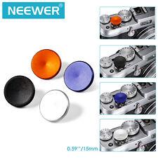 Neewer 4-Piece 15mm Metal Soft Shutter Release Button Set