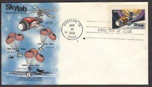 1974 Skylab Space Station Sc 1529 FDC Houston Philatelic Society cachet