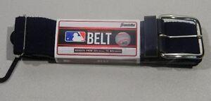 "Franklin MLB Baseball/Softball Adjustable Elastic Belt 22""-42""Major League Navy"
