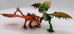 Dreamworks How to Train Your Dragon 2013 Hookfang And 2010 Deadly Nadder Toys