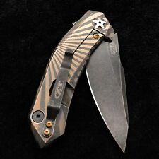 ZT0095BW Zero Tolerance Knife  0095BW  S35VN Blackwash Blade Starburst  Scales