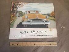 1954 Pontiac Star Chief Chieftain 28 Pagina Originale Brochure Catalogo