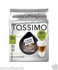 Tassimo Carte Noire Latte Macchiato Café Vainas cápsula 16 T-Discs 8 porciones