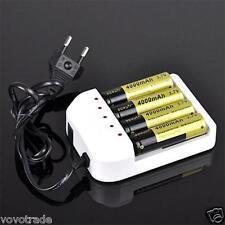 Universal Intelligent Li-ion/NiMH 18650/26650/AA/AAA Battery Charger 4 Slots EU