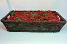Gift Basket Supplies Large Rectangle with Handles 12x4x17.5 Ready To Fill !