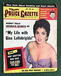 The National Police Gazette July 1955 Gina Lollobrigida Arthur Godfrey
