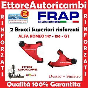 2 BRACCI OSCILLANTI SUPERIORI FRAP ALFA ROMEO 147-156 -GT - TRAPEZI RINFORZATI