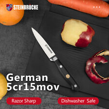 4 Inch German Stainless Steel Paring Peeling Knife Kitchen with Ergonomic Handle