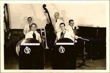 1940s Peter Kline Orchestra Swing Band Piano Saxophone Bass Trombone Drums Photo
