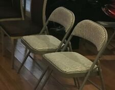 Set of Five (5) Deluxe Fabric Padded Folding Chairs (Used)