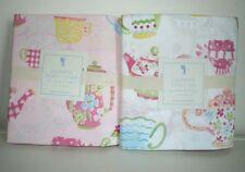 Pottery barn kids Julianne Twin Duvet Cover & sheet set Teapot Pink 4pc