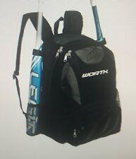 New Worth Bkpk2 Baseball/Softball Equipment and Bat Backpack, Black