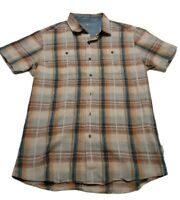 Kuhl Men's Medium Plaid Short Sleeve Button Down Shirt
