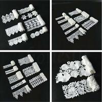 1 Yd White Venise Lace Edge Trim Wedding Ribbon Applique DIY Sewing Craft Gift