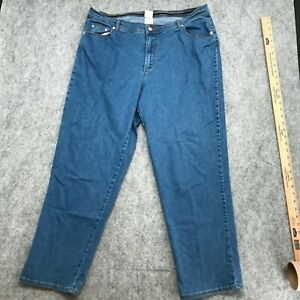 JMS Just My Size Jeans Womens Sz 18W Comfortable Lightweight Stretch Tapered Leg