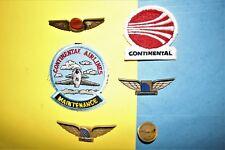 6 CONTINENTAL AIRLINES RAMP MAINTENANCE LOGO HAT PATCH JUNIOR JR PILOT WINGS LOT