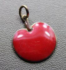 1/20 12k Gold Plate Red Enamel Teachers Apple Charm