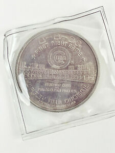 CHICAGO CUBS - A NIGHT TO REMEMBER 8.8.88 - FIRST NIGHT GAME COIN - 1oz SILVER
