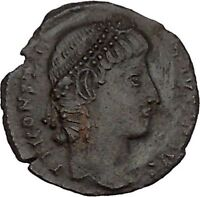 CONSTANTIUS II son of Constantine the Great Roman Coin Wreath of success i42644