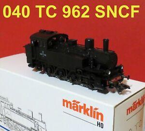 34131  MARKLIN LOCO VAPEUR 040 TC 962 SNCF DIGITALE TRES BON ETAT EN BOITE