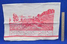 Flour Sack Kitchen Towel Fox Hunt Design Or Frame For Wall Decor Scotland