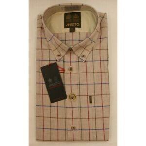 Musto Button Down Collar Shirt Wray Check - Royal Blue 15
