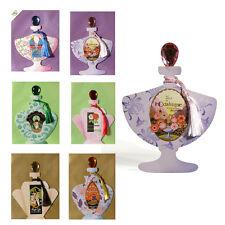 6 Tarjetas De Art Decó Botella de Perfume con tapones de piedras preciosas & sedosa borla EC0088