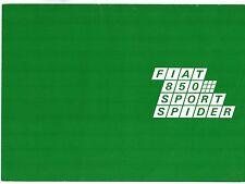 Fiat 850 Sport Spider 1968-71 UK Market Foldout Sales Brochure
