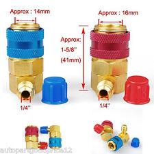 2Pcs HVAC 1/4 R134a High Low Air Condition Quick Connectors Adaptors Coupler Kit