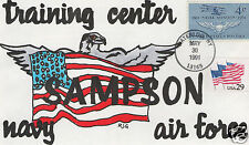 RJG BOB GRIER 125TH ANNIVERSARY OF MEMORIAL DAY HAND PAINTED FIRST DAY COVER FDC