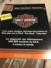 fascicule 17 Harley Davidson WLA Flat Head Liberator 750 , Hachette