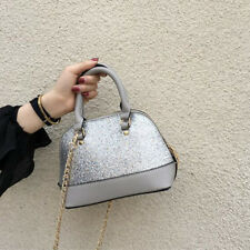 Fashion Ins Sequined Shell Hand Bag - Silver (LSG063023)