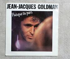 """DISQUE VINYL 45T SP/ JEAN-JACQUES GOLMAN """"PUISQUE TU PARS"""" 1988 7"""" 45 RPM EPIC"""