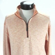 TOMMY BAHAMA Reversible 1/2 Zip Pullover Shirt Sea Glass Curuba Orange $99.50