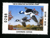 US Duck New Hampshire Stamps # 6b VF Governors edition OG NH Scott Value $50.00